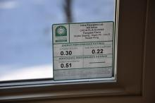 Window label denoting efficiency
